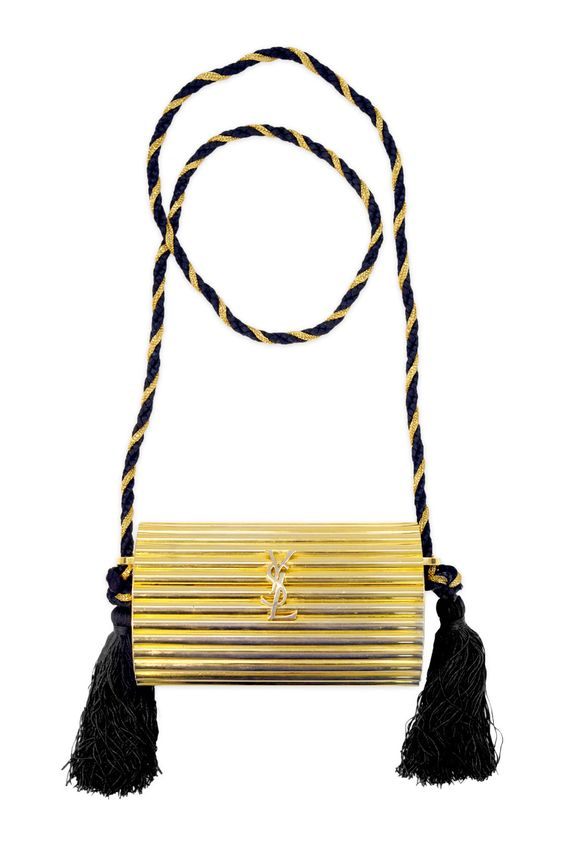 Vintage YSL Gold Tassel Clutch   Tassels, Clutches and Rent The Runway