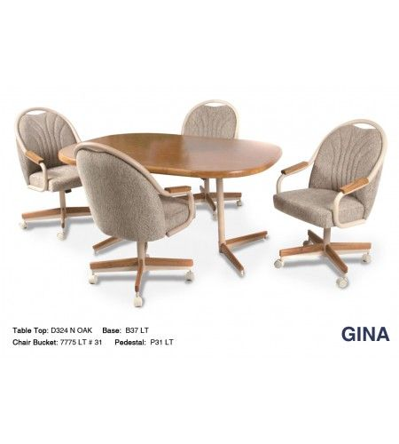 Shop Casual Dining Brown Cushion Swivel And Tilt Rolling: Douglas Casual Living Gina Swivel Caster Dinette Set