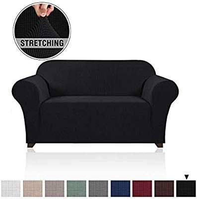 Amazon Com Rich Jacquard Sofa Cover For 2 Cushion Couch Furniture