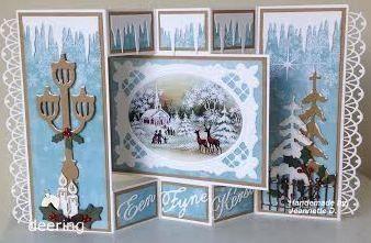 Voorbeeldkaart - kerstkaart - Categorie: Stansapparaten - Hobbyjournaal uw hobby website
