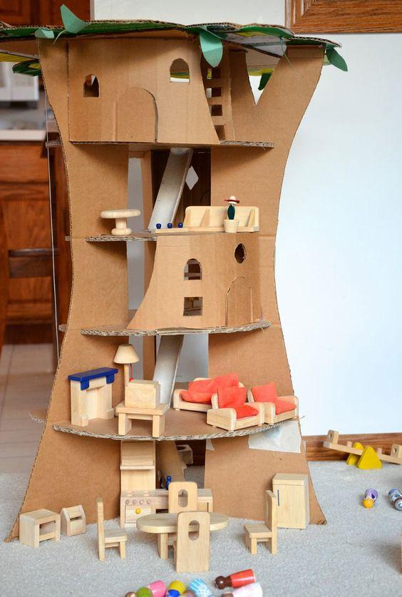 das etwas andere puppenhaus aus pappe zuk nftige projekte pinterest tassen house en bomen. Black Bedroom Furniture Sets. Home Design Ideas