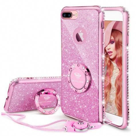 Amazon Iphone 8 Plus Case Iphone 7 Plus Case Glitter Cute Phone Case For Girls With Kickstand Fo Cute Phone Cases Glitter Iphone Case Phone Cases Protective