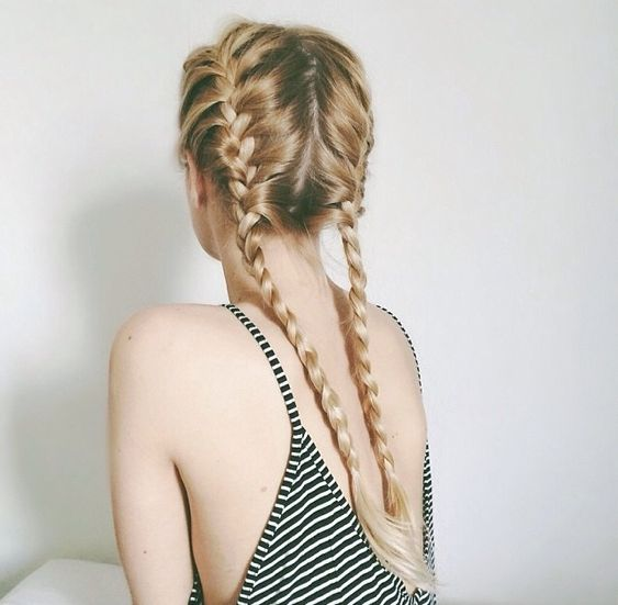 16 Cute Summer Hairstyles For Long Hair - Be Modish - Be Modish: Double Braid, Double French Braid, French Braid Pigtail, Hair Style, Pigtail Braid, French Plait, Braided Pigtail