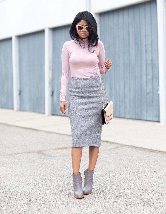 Pink and gray | Photo: Walk in Wonderland via @stylelist | http://aol.it/1za47HI