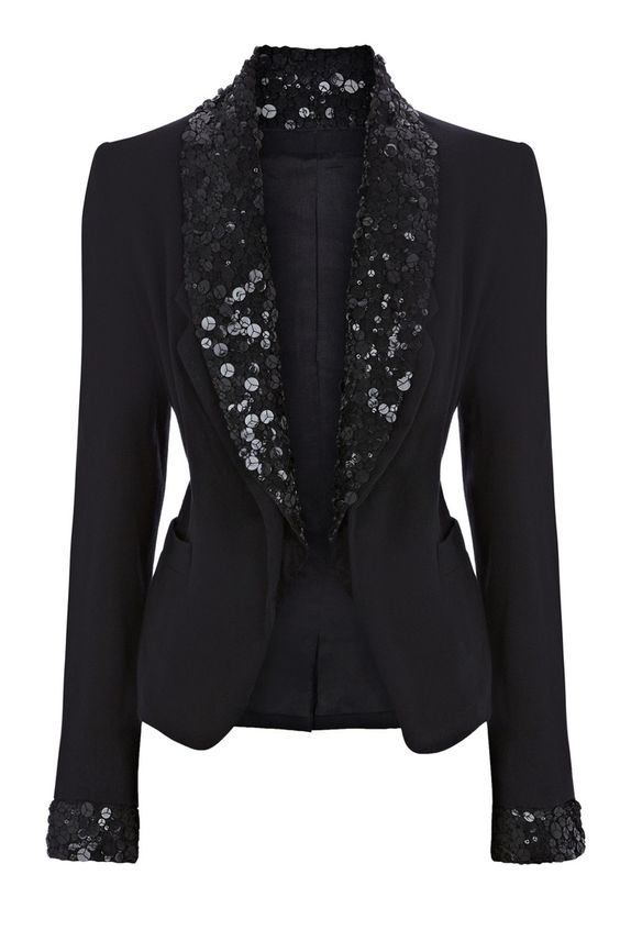 BLACK BLAZER WITH SEQUINS
