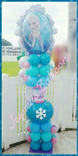 Frozen balloon jeyrelis balloons pinterest columns for Frozen balloon ideas