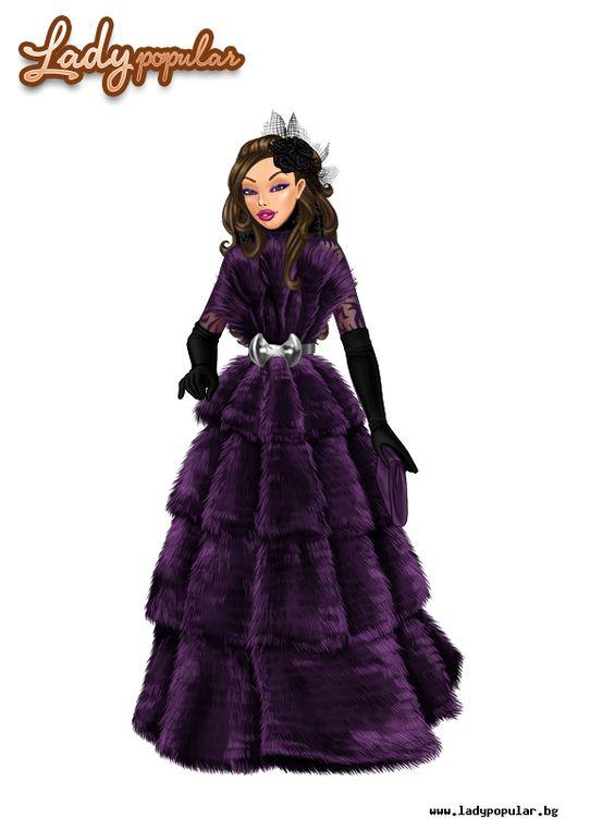 Purple fluffy dress