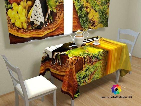 Tischdecke Tischdecken-Set Tischwäsche in Luxus Fotodruck 3D Maßanfertigung.