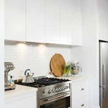 Modern Country Kitchen With Profile Painted Doors Handle
