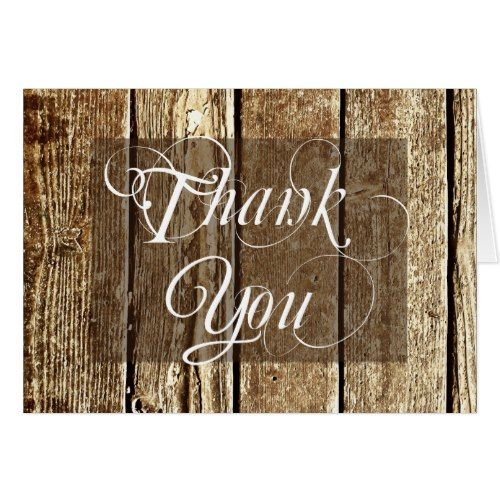Country Wedding Thank You Cards Rustic Country Barn Wood Blank Thank You Cards