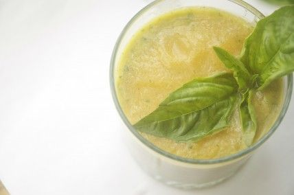 Cantaloupe Smoothie with Mint + Basil, Wholeliving.com
