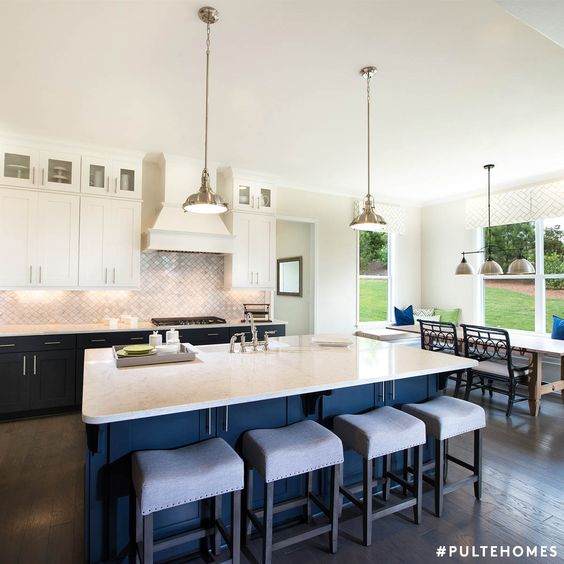Two-toned is better than one! Pairing classic white cabinets with ...