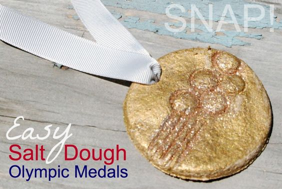 Easy Salt Dough Olympic Medals - great for kids