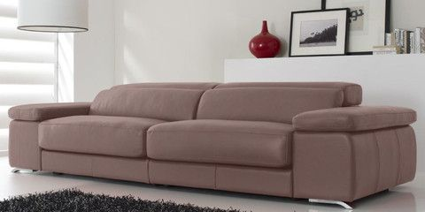 Sofa de piel modelo KeyWest en color Safari