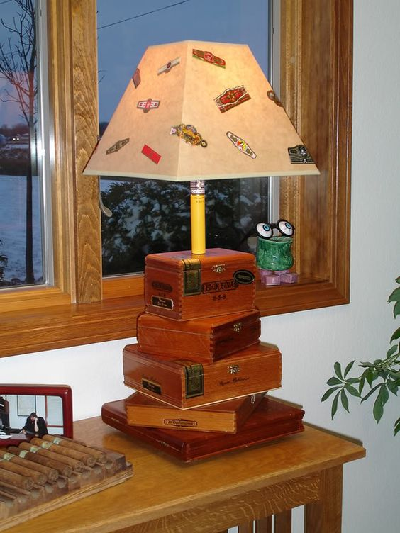 What To Do With Those Empty Cigar Boxes  Wouldn't this also be great with old books?