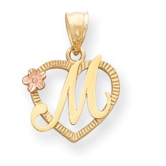 10K Yellow Gold Initial Letter S Charm Pendant from Roy Rose Jewelry