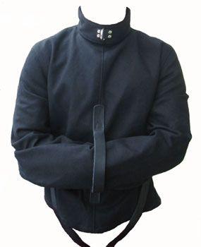Strict Leather Black Canvas Straitjacket Medium