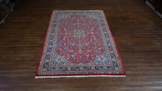 Hand Knotted Sarouq Rug from Iran (Persian). Length: 220.0cm by Width: 145.0cm. Only £1114 at https://www.olneyrugs.co.uk/shop/rugs-for-sale/persian-sarouq-19720.html    Take a look at our refined assortment of wall hanging rugs, kilim ottomans and Kilim bags at www.olneyrugs.co.uk
