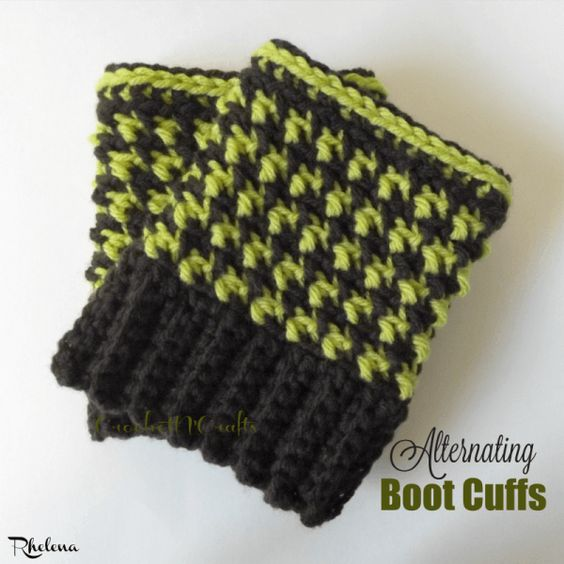 Boot Cuffs, Free Crochet And Patterns On Pinterest