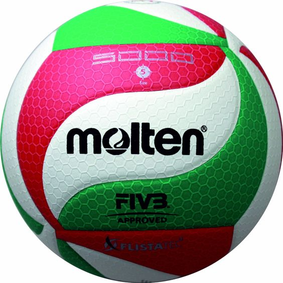 Molten Volleyball - 5, White/Green/Red: Amazon.co.uk: Sports & Outdoors