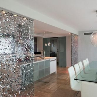 Private Residence By Ambiente Design 3form Glass Partition Wall In