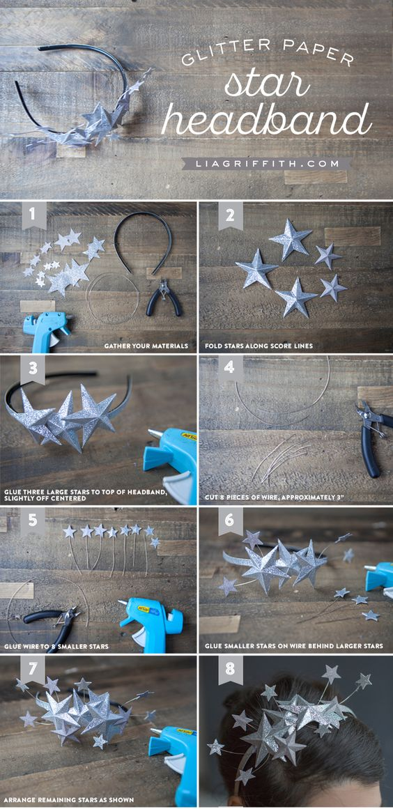 Paper Star Headband Tutorial New Year's Eve Idea from MichaelsMakers ...