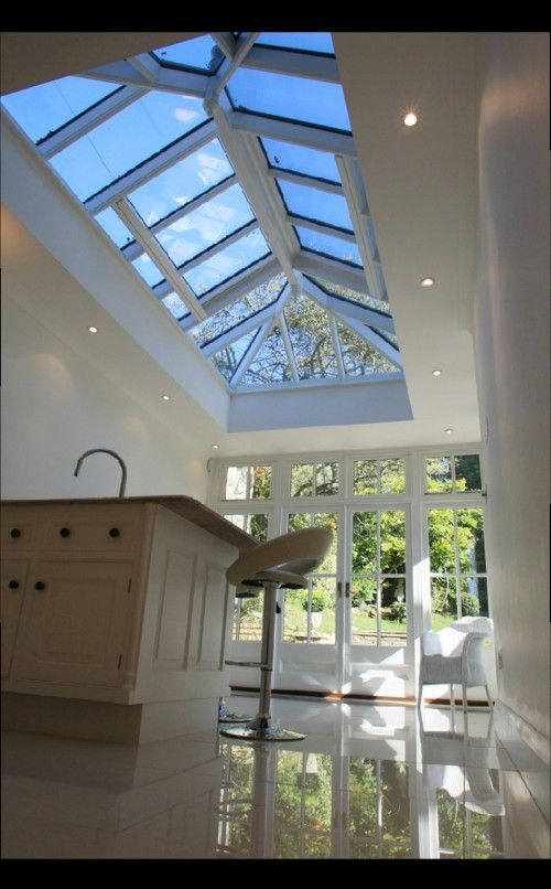 Is this the type of roof light you'd propose as just trying to get an idea of what it might look like in the kitchen open plan area.