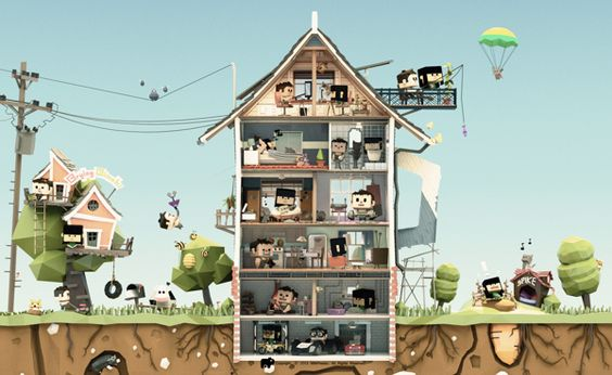 Daily Life by ben rc, via Behance