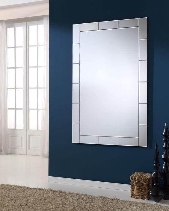 Speil med med ledlys modell bricks. www.mirame.no #speil #stue ...