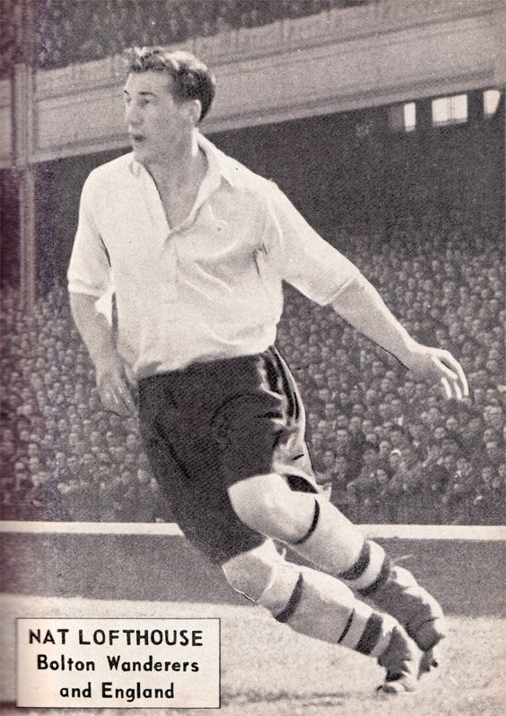 Nat Lofthouse of Bolton Wanderers in 1956.