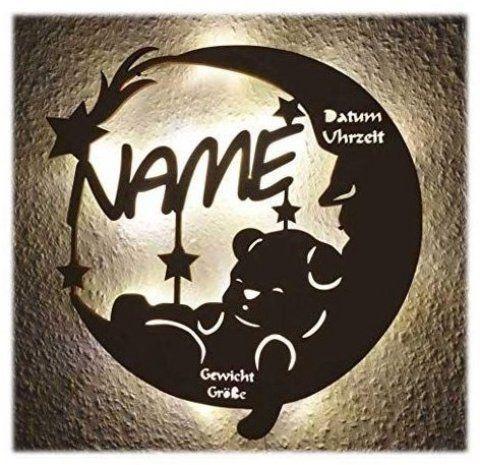 Top 10 Bestseller Geschenke Zur Geburt Schlummerlicht24 Led Lampe Personalisiert Babygeschenk Sweet Dream Taufges In 2020 Birth Gift American Gifts Experience Gifts