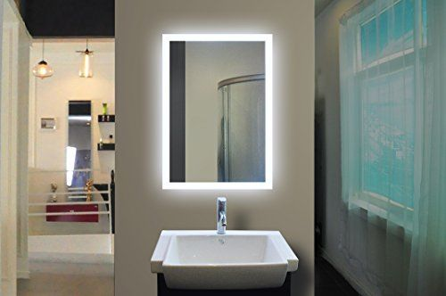Paris Mirror Rectangle Bathroom Mirror With Led Backlights In 2018: Backlit Bathroom Mirror 24 X 32 In By IB MIRROR -- For