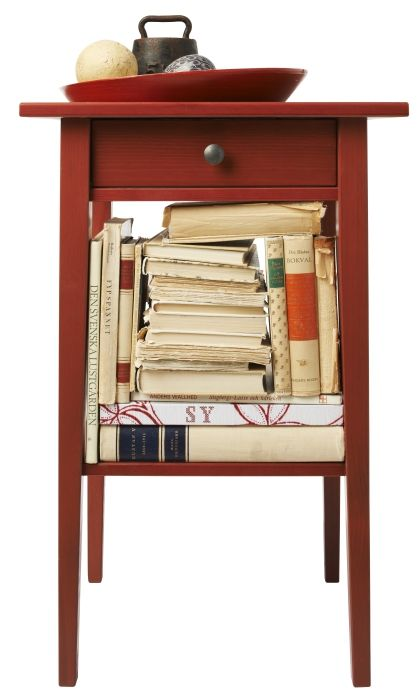HEMNES nightstand in red Wake up with color on your side! Bedrooms Pinterest Armchairs