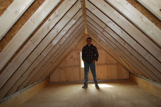 Loft double garage and single wide on pinterest for Barn storage sheds with loft