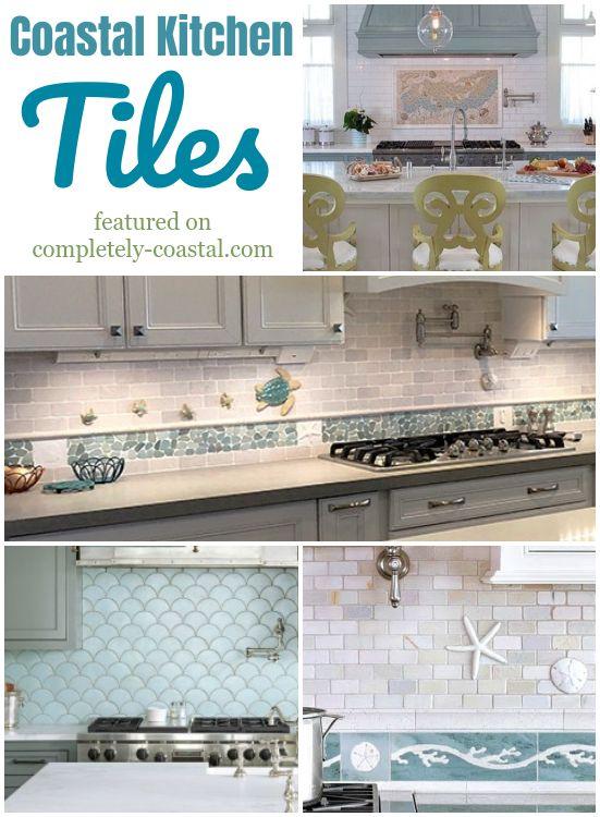 Coastal Kitchen Backsplash Ideas With Mosaic Tiles Beach Murals Cottage Kitchen Backsplash Coastal Kitchen Beach Theme Kitchen