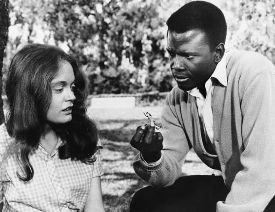 """Sidney Poitier and Elizabeth Hartman in """"A Patch of Blue"""".  (1965)"""