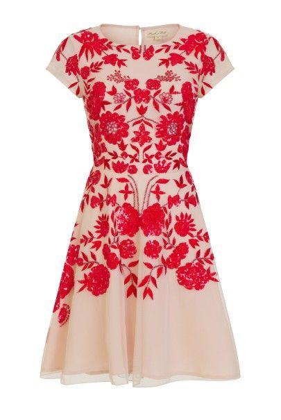 Zella Embroidered Skater Dress