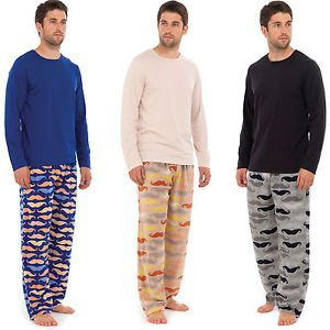 Details about Mens Pyjamas Pjs Nightwear Novelty Mustache pants ...