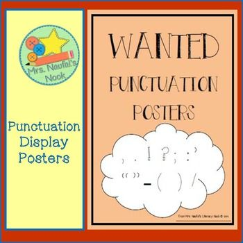 Punctuation Wanted Posters Punctuation Pinterest Punctuation - examples of wanted posters