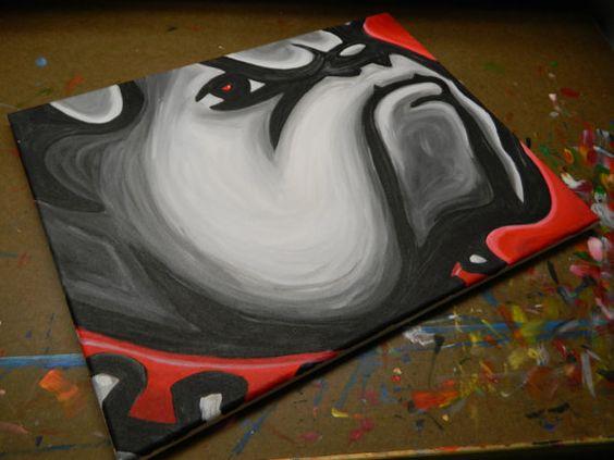 University of Georgia Bulldogs painting sports art by crockerart