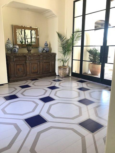 Modello Custom Stencils For Painting Large Grand Floor Design