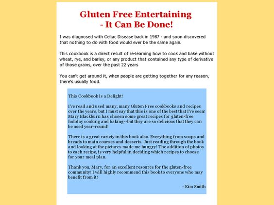 Gluten-free Get-togethers Cookbook Review  Get Full Review : http://scamereviews.typepad.com/blog/2013/05/gluten-free-get-togethers-cookbook.html
