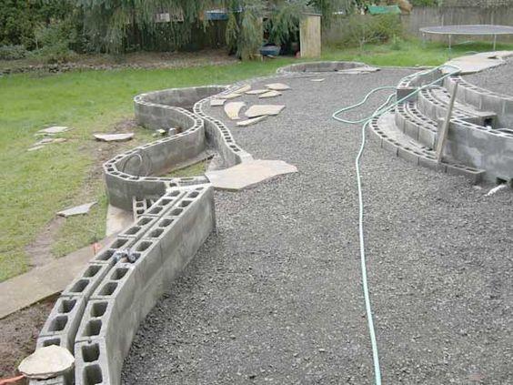 Bloques de cemento, Paredes de bloques de cemento and Patios ...