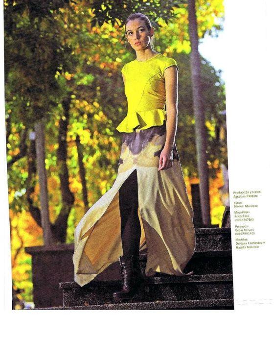 Producción de moda en revista Galería de Micaela Castro