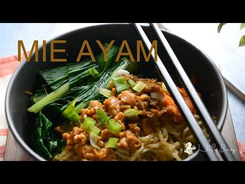 Mie Ayam Resep L Cara Buat Bakmi Ayam Enak Lezat Youtube Resep Resep Masakan Memasak