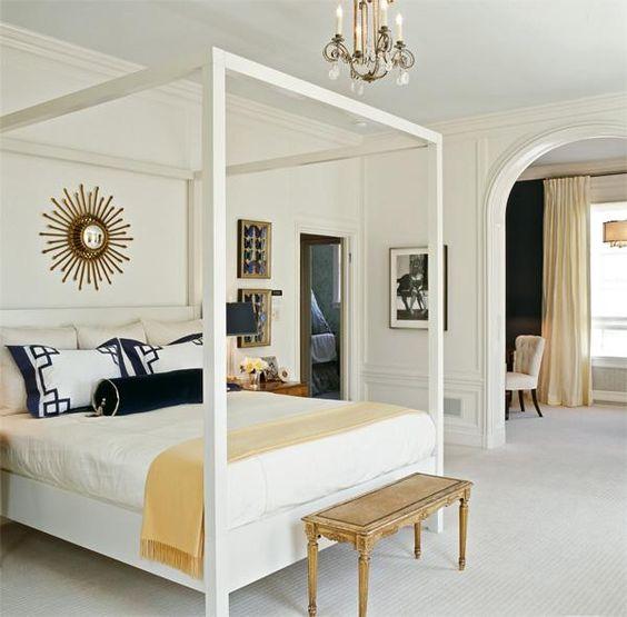 bedroom inspiration - clean, crisp lines