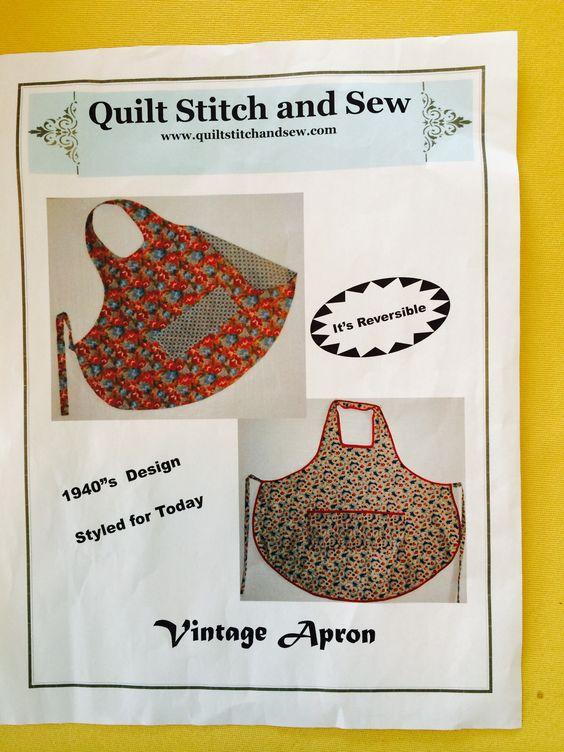 Vintage Apron pattern from www.quiltstitchandsew.com