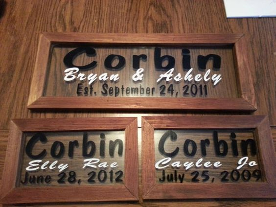 Custom Name Sign Sand Etched on Both Sides by BrettsCustomEngravin, $45.00