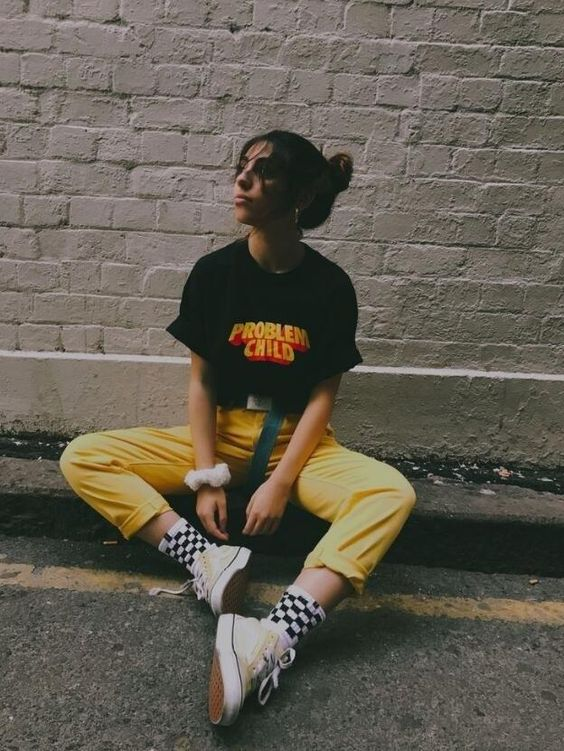 """Problem Child"" | 1990s Fashion Tee – GrungeGrrrls |     #90fashion #90sstyle #90looks #90seralooks #90sbabes #vintage #grunge #grungetumblr #grungeaesthetic #aesthetic #aesthetictumblr #looks #grungefashion #iwasborninthewrongera #90sera #vintageclothing #vintageaesthetic #outfit #90soutfit #boyfriendjeans #pacsun #urbanoutfitters #retro #retrolook #thriftedfashion #primarycolors #oldschoolfashion #90svintage #alternative #thriftedfashion"