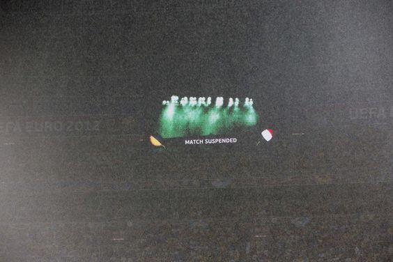 Ukraine v France suspended - Euro 2012 in Pictures.